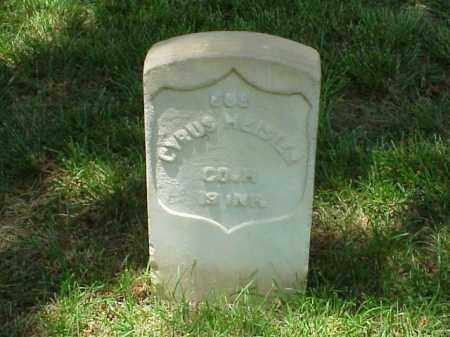 HEISTER (VETERAN UNION), CYRUS - Pulaski County, Arkansas | CYRUS HEISTER (VETERAN UNION) - Arkansas Gravestone Photos