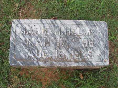 HELMER, MARIE H - Pulaski County, Arkansas   MARIE H HELMER - Arkansas Gravestone Photos