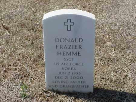 HEMME (VETERAN KOR), DONALD FRAZIER - Pulaski County, Arkansas | DONALD FRAZIER HEMME (VETERAN KOR) - Arkansas Gravestone Photos