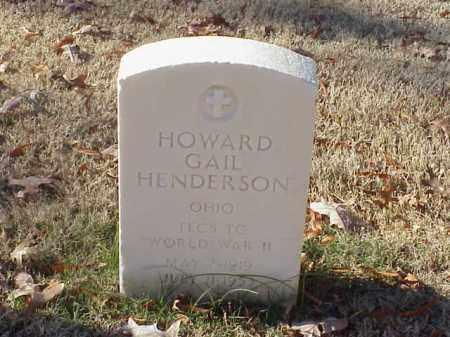 HENDERSON  (VETERAN KOR), HOWARD GAIL - Pulaski County, Arkansas | HOWARD GAIL HENDERSON  (VETERAN KOR) - Arkansas Gravestone Photos
