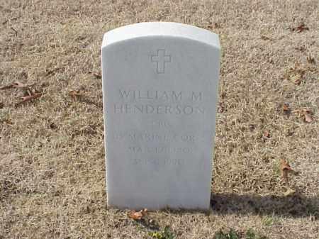 HENDERSON  (VETERAN), WILLIAM M - Pulaski County, Arkansas | WILLIAM M HENDERSON  (VETERAN) - Arkansas Gravestone Photos