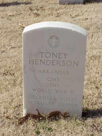 HENDERSON  (VETERAN WWII), TONEY - Pulaski County, Arkansas | TONEY HENDERSON  (VETERAN WWII) - Arkansas Gravestone Photos