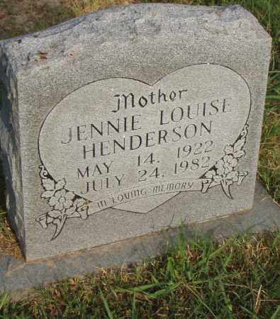 HENDERSON, JENNIE LOUISE - Pulaski County, Arkansas | JENNIE LOUISE HENDERSON - Arkansas Gravestone Photos