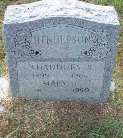 HENDERSON, MARY J. - Pulaski County, Arkansas | MARY J. HENDERSON - Arkansas Gravestone Photos