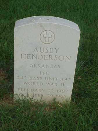 HENDERSON (VETERAN WWII), AUSBY - Pulaski County, Arkansas   AUSBY HENDERSON (VETERAN WWII) - Arkansas Gravestone Photos
