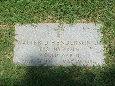 HENDERSON (VETERAN WWII), WALTER J - Pulaski County, Arkansas | WALTER J HENDERSON (VETERAN WWII) - Arkansas Gravestone Photos
