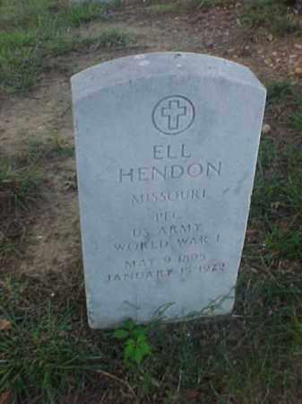 HENDON (VETERAN WWI), ELL - Pulaski County, Arkansas   ELL HENDON (VETERAN WWI) - Arkansas Gravestone Photos