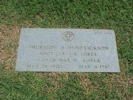 HENDRICKSON (VETERAN 2 WARS), THURMON H - Pulaski County, Arkansas   THURMON H HENDRICKSON (VETERAN 2 WARS) - Arkansas Gravestone Photos