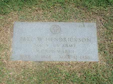 HENDRICKSON (VETERAN WWII), PAUL W - Pulaski County, Arkansas   PAUL W HENDRICKSON (VETERAN WWII) - Arkansas Gravestone Photos