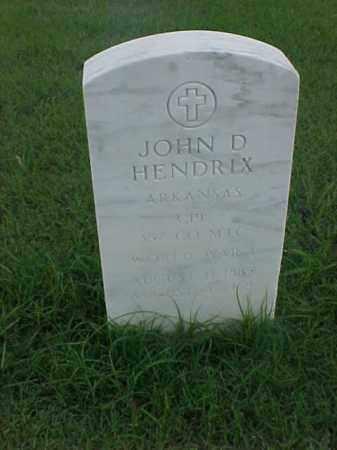 HENDRIX (VETERAN WWI), JOHN D - Pulaski County, Arkansas   JOHN D HENDRIX (VETERAN WWI) - Arkansas Gravestone Photos
