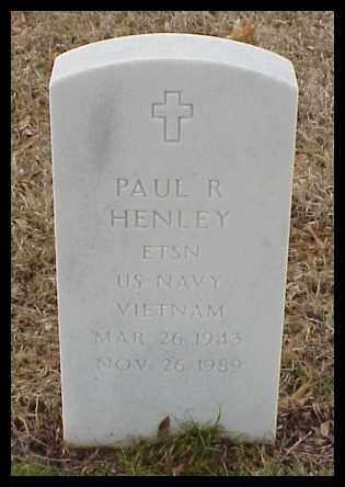 HENLEY (VETERAN VIET), PAUL R - Pulaski County, Arkansas   PAUL R HENLEY (VETERAN VIET) - Arkansas Gravestone Photos