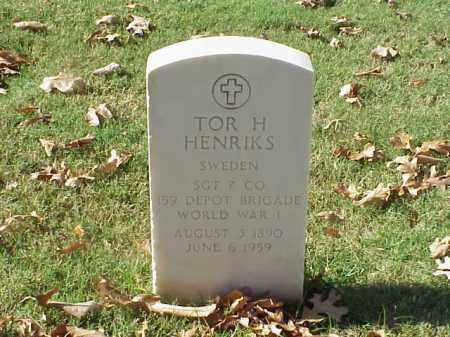 HENRIKS  (VETERAN WWI), TOR H - Pulaski County, Arkansas   TOR H HENRIKS  (VETERAN WWI) - Arkansas Gravestone Photos