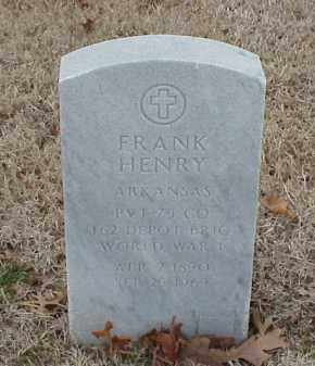 HENRY  (VETERAN WWI), FRANK - Pulaski County, Arkansas | FRANK HENRY  (VETERAN WWI) - Arkansas Gravestone Photos