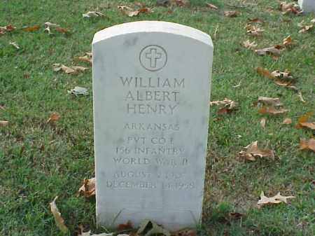 HENRY  (VETERAN WWII), WILLIAM ALBERT - Pulaski County, Arkansas | WILLIAM ALBERT HENRY  (VETERAN WWII) - Arkansas Gravestone Photos