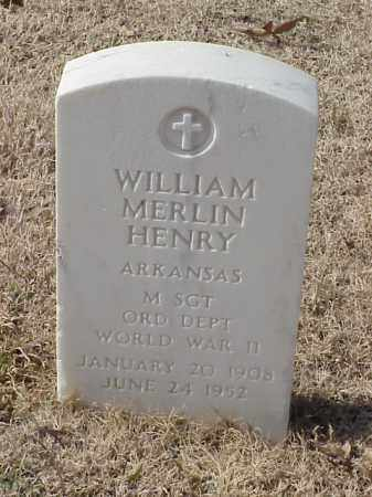 HENRY  (VETERAN WWII), WILLIAM MERLIN - Pulaski County, Arkansas | WILLIAM MERLIN HENRY  (VETERAN WWII) - Arkansas Gravestone Photos