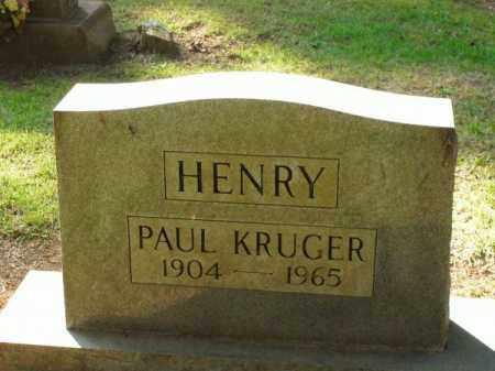 HENRY, PAUL KRUGER - Pulaski County, Arkansas   PAUL KRUGER HENRY - Arkansas Gravestone Photos
