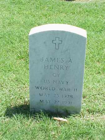 HENRY (VETERAN WWII), JAMES A - Pulaski County, Arkansas   JAMES A HENRY (VETERAN WWII) - Arkansas Gravestone Photos
