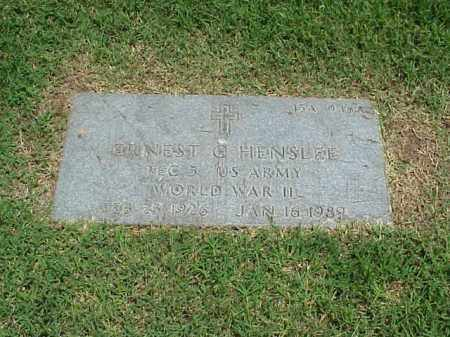 HENSLEE (VETERAN WWII), ERNEST C - Pulaski County, Arkansas | ERNEST C HENSLEE (VETERAN WWII) - Arkansas Gravestone Photos