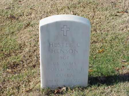HENSON  (VETERAN 2 WARS), HESTER C - Pulaski County, Arkansas | HESTER C HENSON  (VETERAN 2 WARS) - Arkansas Gravestone Photos