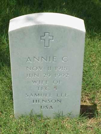 HENSON, ANNIE C - Pulaski County, Arkansas | ANNIE C HENSON - Arkansas Gravestone Photos