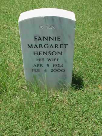 HENSON, FANNIE MARGARET - Pulaski County, Arkansas | FANNIE MARGARET HENSON - Arkansas Gravestone Photos