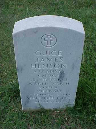 HENSON (VETERAN 3 WARS), GUICE JAMES - Pulaski County, Arkansas   GUICE JAMES HENSON (VETERAN 3 WARS) - Arkansas Gravestone Photos