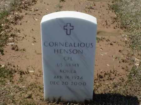 HENSON (VETERAN KOR), CORNEALIOUS - Pulaski County, Arkansas | CORNEALIOUS HENSON (VETERAN KOR) - Arkansas Gravestone Photos