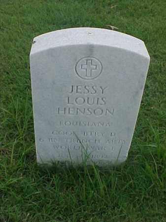 HENSON (VETERAN WWI), JESSY LOUIS - Pulaski County, Arkansas | JESSY LOUIS HENSON (VETERAN WWI) - Arkansas Gravestone Photos