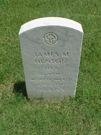 HENSON (VETERAN WWII), JAMES M - Pulaski County, Arkansas   JAMES M HENSON (VETERAN WWII) - Arkansas Gravestone Photos