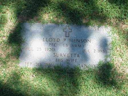 HENSON (VETERAN WWII), LLOYD P - Pulaski County, Arkansas   LLOYD P HENSON (VETERAN WWII) - Arkansas Gravestone Photos