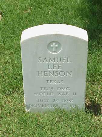 HENSON (VETERAN WWII), SAMUEL LEE - Pulaski County, Arkansas | SAMUEL LEE HENSON (VETERAN WWII) - Arkansas Gravestone Photos