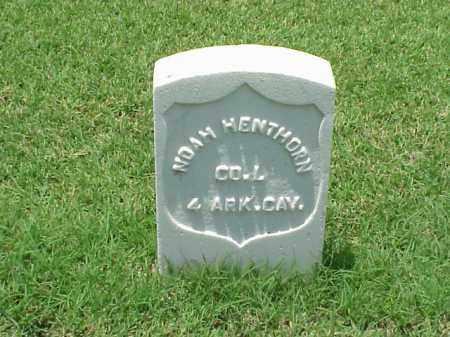 HENTHORN (VETERAN UNION), NOAH - Pulaski County, Arkansas | NOAH HENTHORN (VETERAN UNION) - Arkansas Gravestone Photos