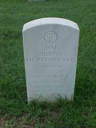 HEPTINSTALL (VETERAN WWII), JIM BURNS - Pulaski County, Arkansas | JIM BURNS HEPTINSTALL (VETERAN WWII) - Arkansas Gravestone Photos