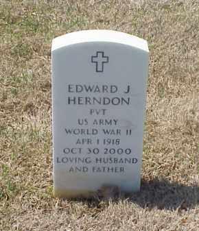HERNDON (VETERAN WWII), EDWARD J - Pulaski County, Arkansas | EDWARD J HERNDON (VETERAN WWII) - Arkansas Gravestone Photos