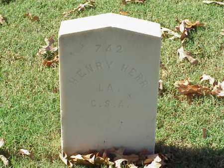 HERR  (VETERAN CSA), HENRY - Pulaski County, Arkansas   HENRY HERR  (VETERAN CSA) - Arkansas Gravestone Photos