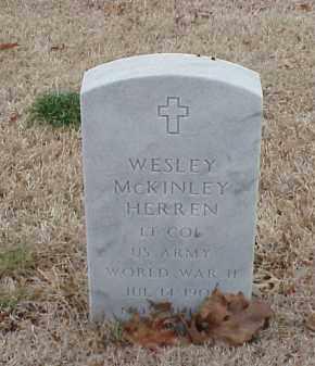 HERREN  (VETERAN WWII), WESLEY MCKINLEY - Pulaski County, Arkansas | WESLEY MCKINLEY HERREN  (VETERAN WWII) - Arkansas Gravestone Photos