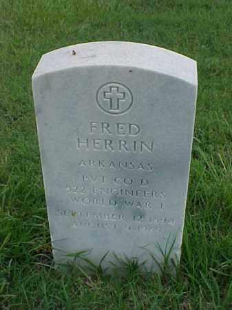HERRIN (VETERAN WWI), FRED - Pulaski County, Arkansas | FRED HERRIN (VETERAN WWI) - Arkansas Gravestone Photos