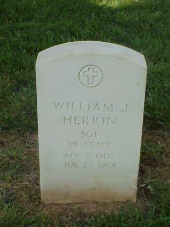 HERRIN (VETERAN WWII), WILLIAM J - Pulaski County, Arkansas | WILLIAM J HERRIN (VETERAN WWII) - Arkansas Gravestone Photos