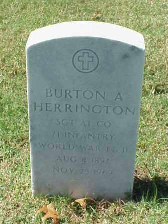 HERRINGTON  (VETERAN 2 WARS), BURTON A - Pulaski County, Arkansas | BURTON A HERRINGTON  (VETERAN 2 WARS) - Arkansas Gravestone Photos