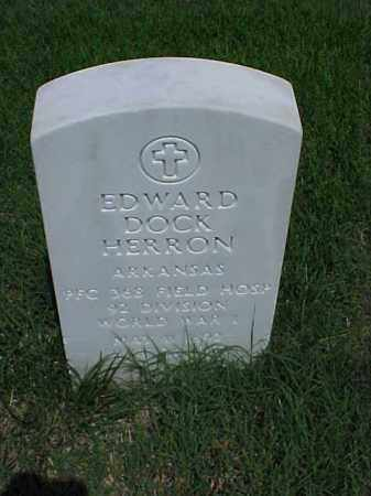 HERRON (VETERAN WWI), EDWARD DOCK - Pulaski County, Arkansas | EDWARD DOCK HERRON (VETERAN WWI) - Arkansas Gravestone Photos
