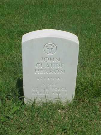 HERRON (VETERAN WWI), JOHN CLAUDE - Pulaski County, Arkansas   JOHN CLAUDE HERRON (VETERAN WWI) - Arkansas Gravestone Photos