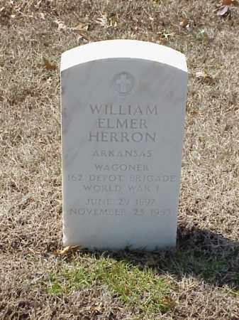 HERRON (VETERAN WWI), WILLIAM ELMER - Pulaski County, Arkansas | WILLIAM ELMER HERRON (VETERAN WWI) - Arkansas Gravestone Photos