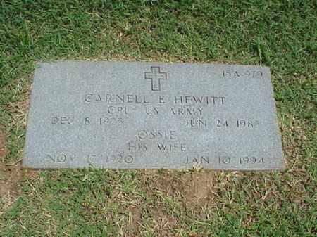 HEWITT (VETERAN WWII), CARNELL E - Pulaski County, Arkansas   CARNELL E HEWITT (VETERAN WWII) - Arkansas Gravestone Photos
