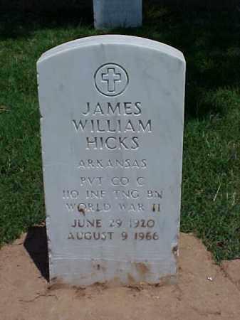 HICK (VETERAN WWII), JAMES WILLIAM - Pulaski County, Arkansas   JAMES WILLIAM HICK (VETERAN WWII) - Arkansas Gravestone Photos