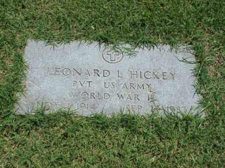 HICKEY (VETERAN WWII), LEONARD L - Pulaski County, Arkansas | LEONARD L HICKEY (VETERAN WWII) - Arkansas Gravestone Photos