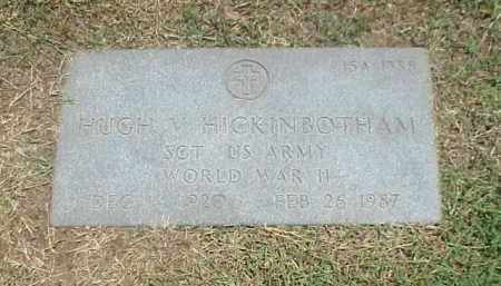 HICKINBOTHAM (VETERAN WWII), HUGH V - Pulaski County, Arkansas   HUGH V HICKINBOTHAM (VETERAN WWII) - Arkansas Gravestone Photos
