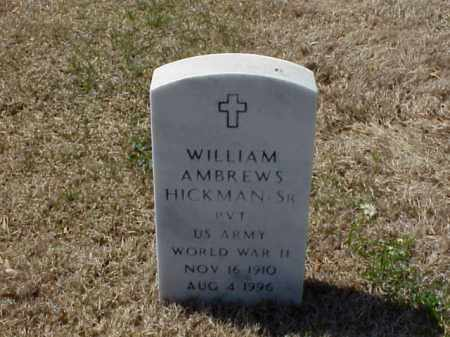 HICKMAN, SR (VETERAN WWII), WILLIAM AMBREWS - Pulaski County, Arkansas   WILLIAM AMBREWS HICKMAN, SR (VETERAN WWII) - Arkansas Gravestone Photos