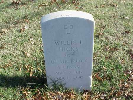 HICKS  (VETERAN VIET), WILLIE L - Pulaski County, Arkansas   WILLIE L HICKS  (VETERAN VIET) - Arkansas Gravestone Photos