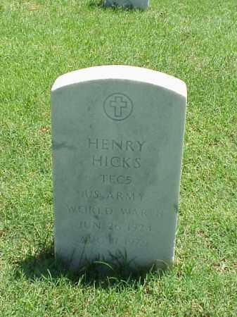 HICKS (VETERAN WWII), HENRY - Pulaski County, Arkansas   HENRY HICKS (VETERAN WWII) - Arkansas Gravestone Photos