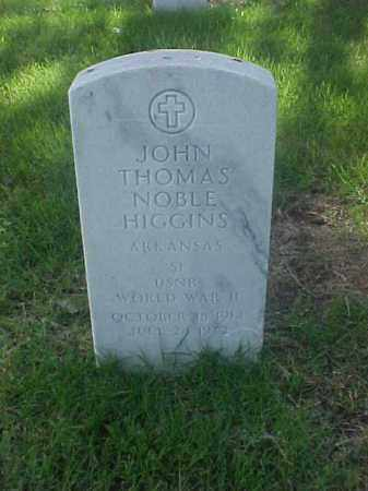 HIGGINS (VETERAN WWII), JOHN THOMAS NOBLE - Pulaski County, Arkansas   JOHN THOMAS NOBLE HIGGINS (VETERAN WWII) - Arkansas Gravestone Photos